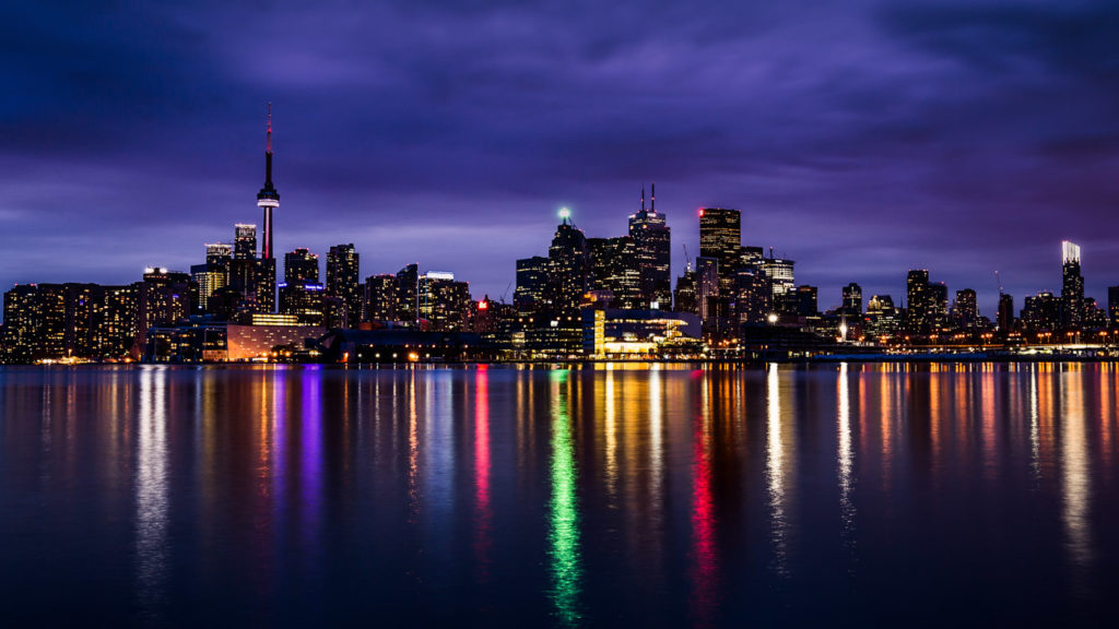 The colorful Skyline of Toronto.