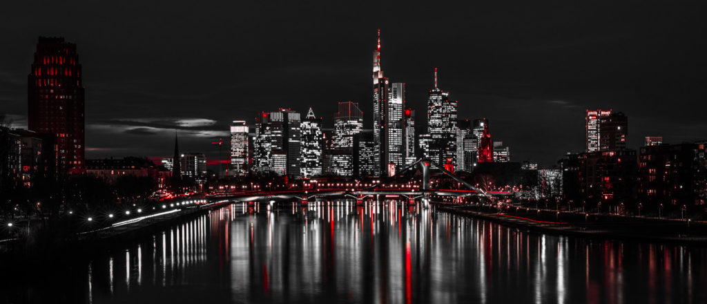 Cityscape Print of Frankfurt - Abstract Sin City Look