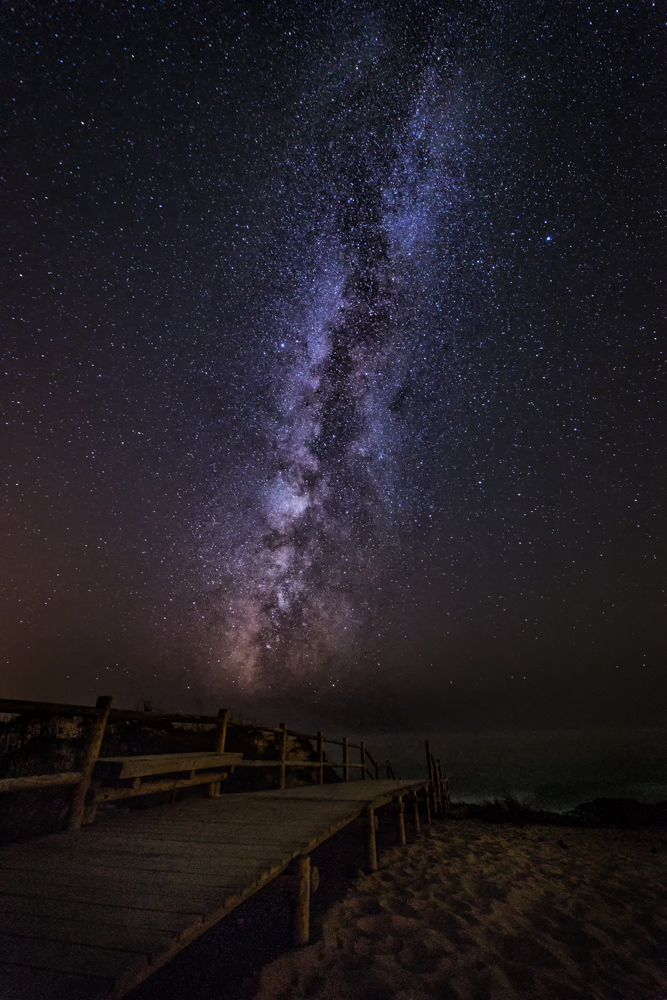 From Faro to Porto: The Milky Way over the Atlantic.