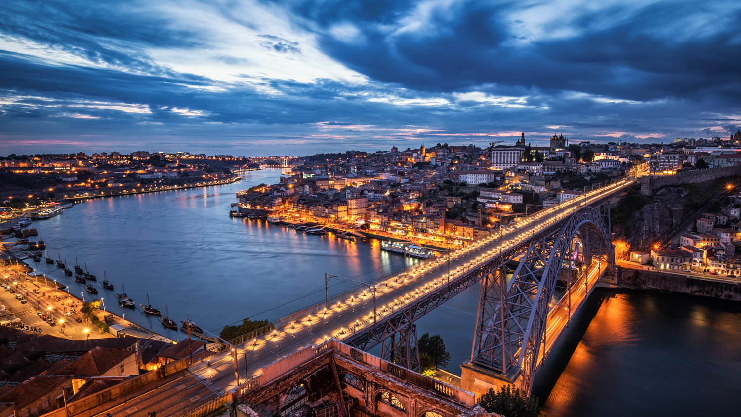 Porto during the Blue Hour.