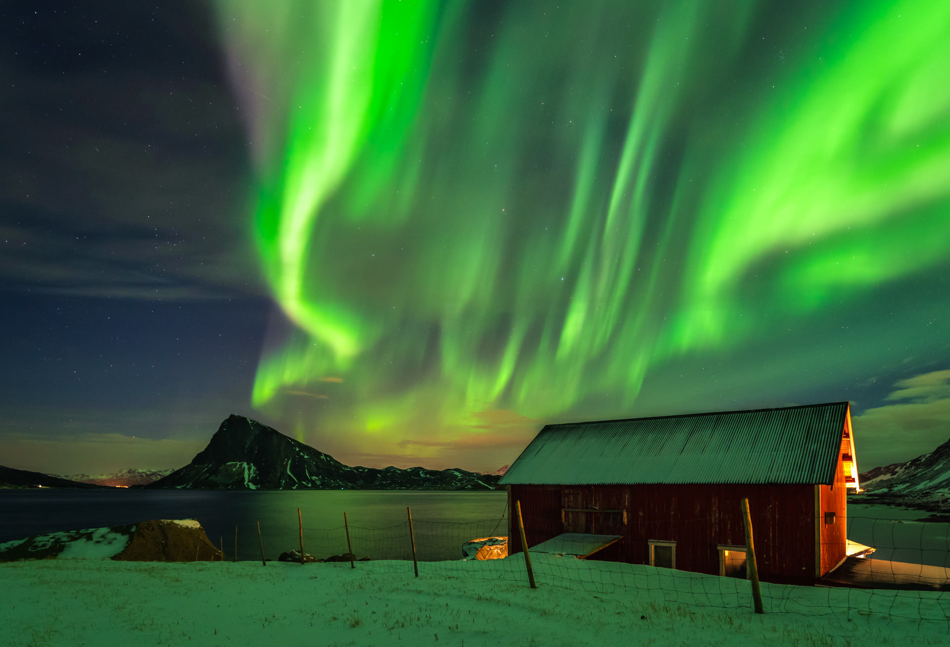 Aurora Borealis (Northern Lights) - Lofoten, Norway -  Landscape Photography