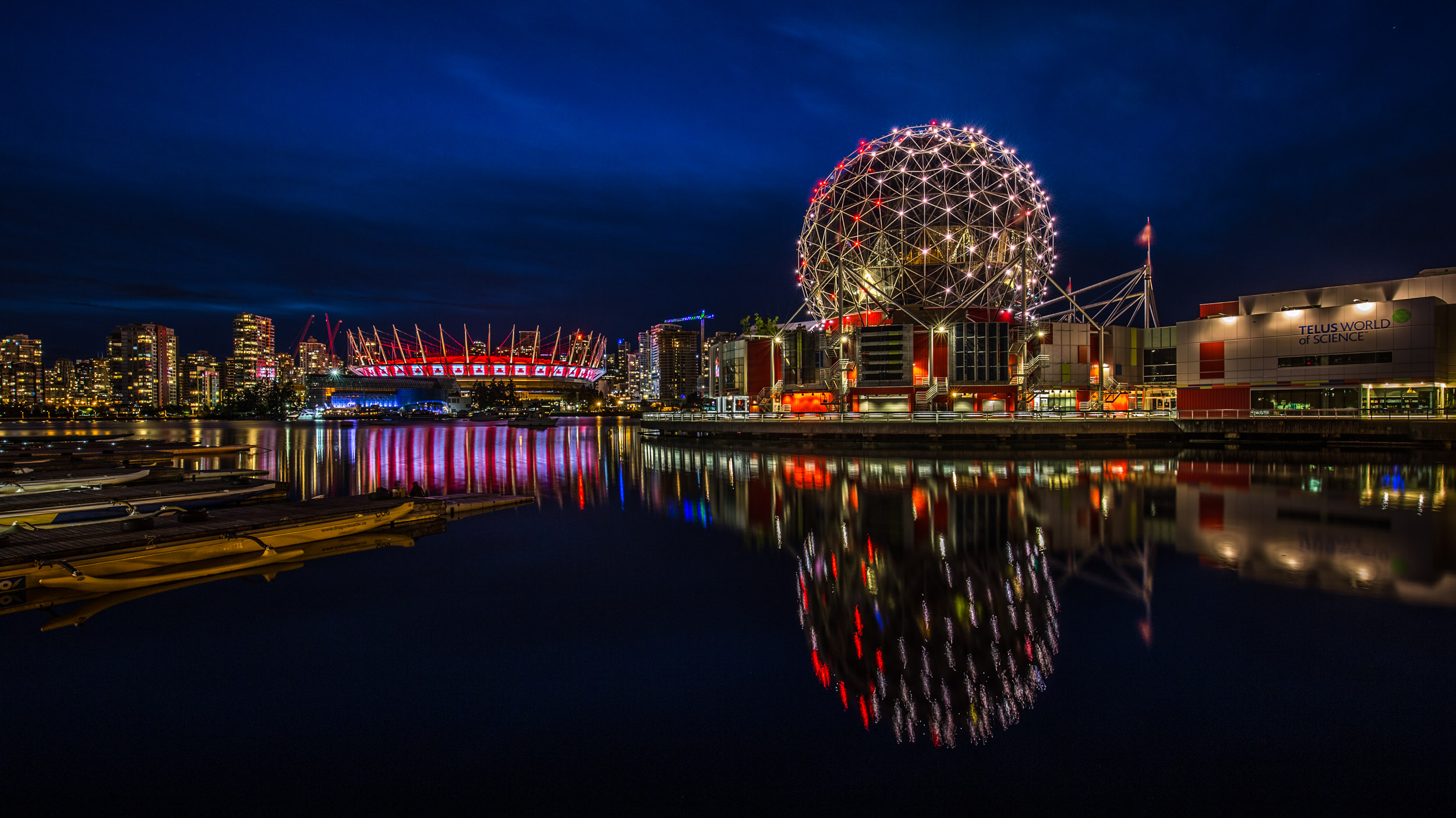 False Creek in Vancouver during the Blue Hour.