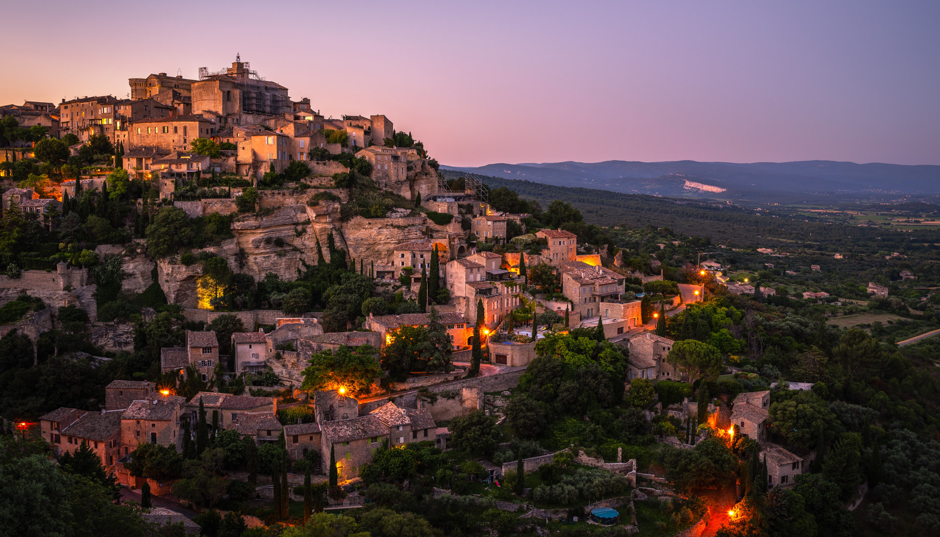Village of Gordes during Sunset, Provence