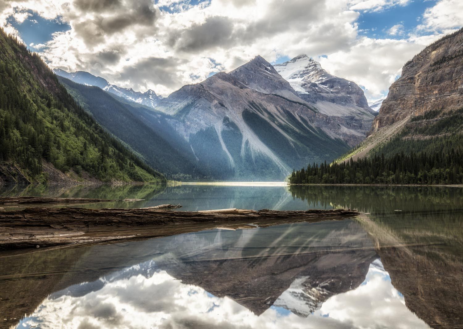 Kinney Lake at Mount Robson, Canada.