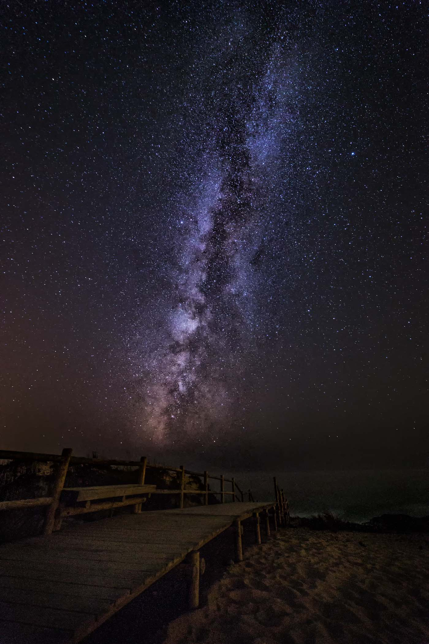 Milky Way over the Coast of Portugal.