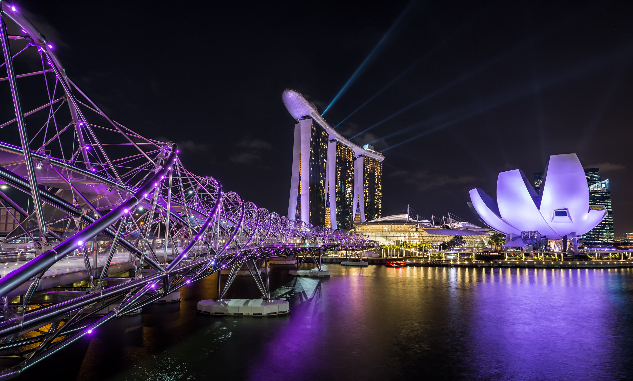 Marina Bay Sands at Night (Singapore)