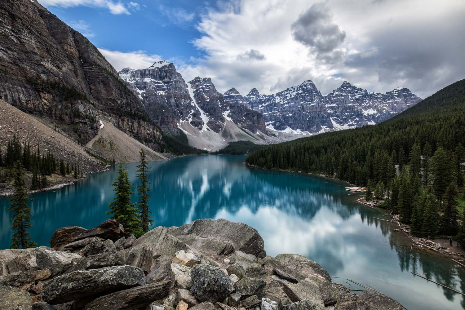 Moraine Lake at Lake Luise, Canada.