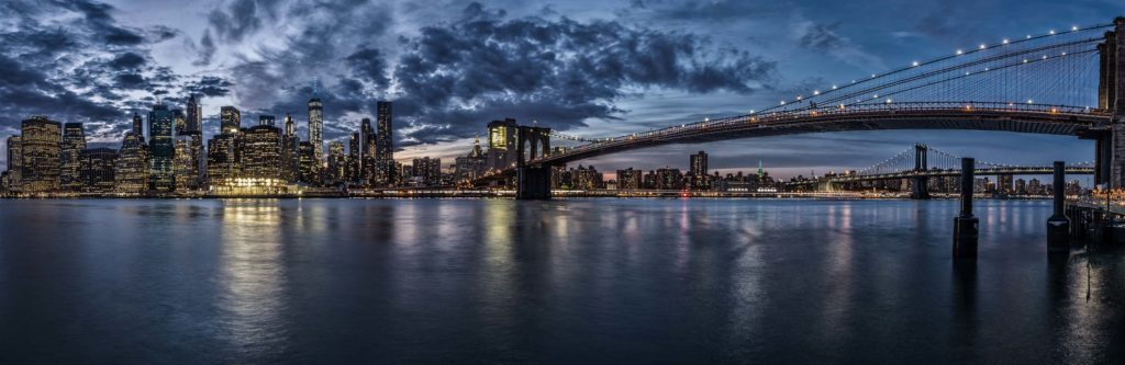 The Skyline of New York City during the Blue Hour