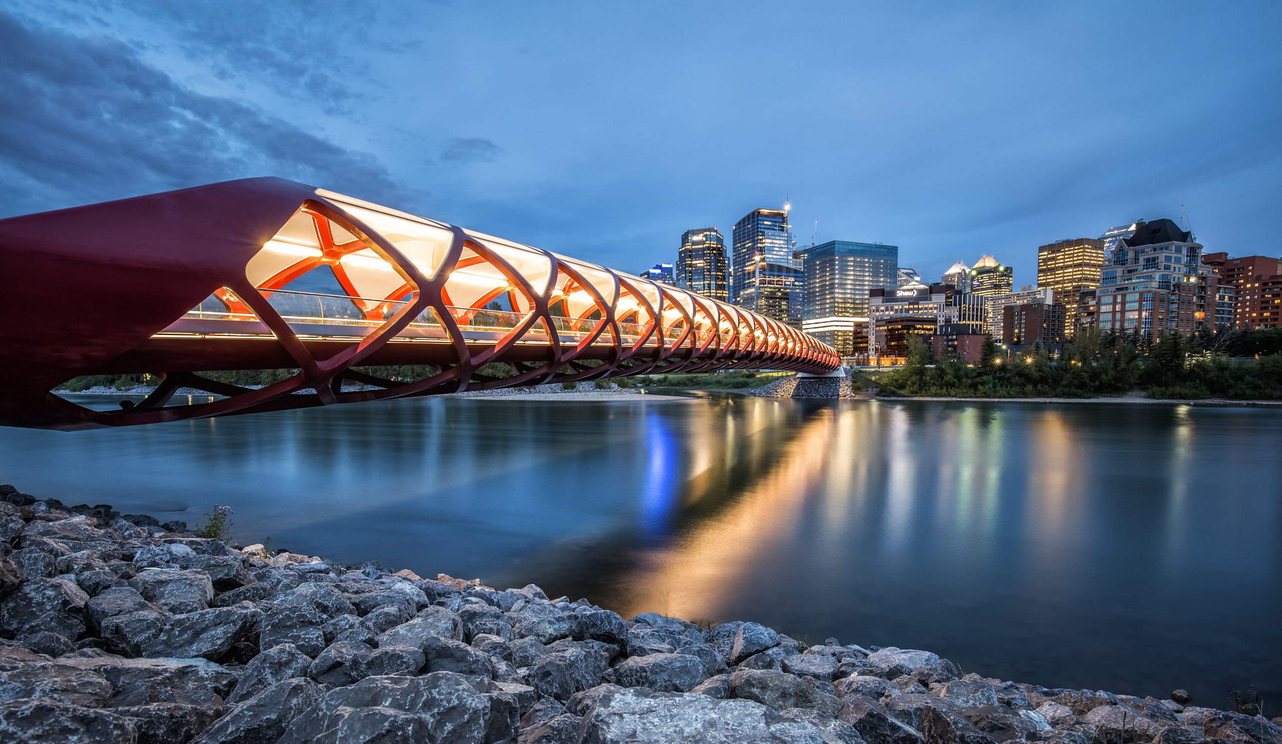 Peace Bridge in Calgary.