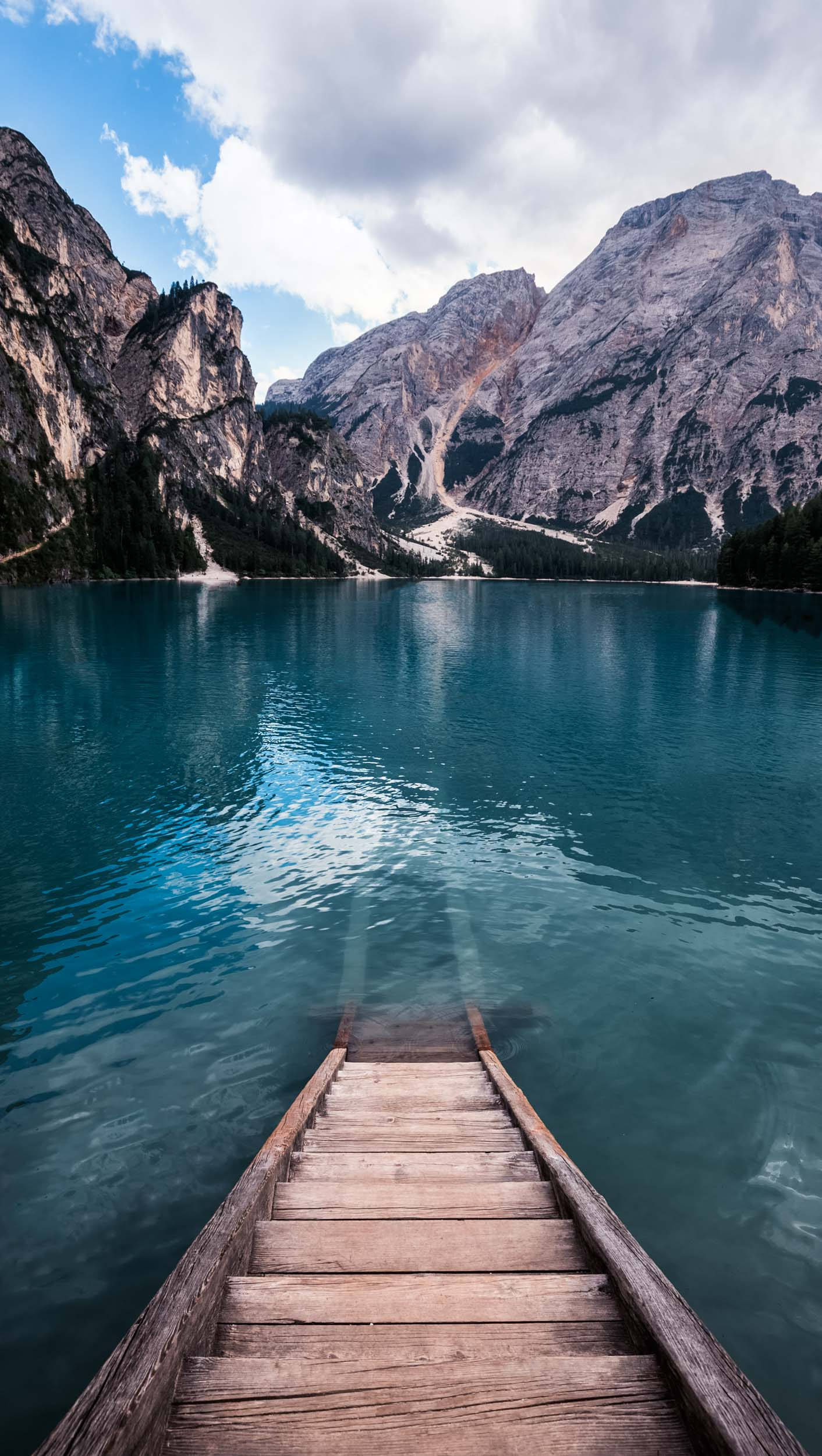 Pragser Wildsee in South Tirol.