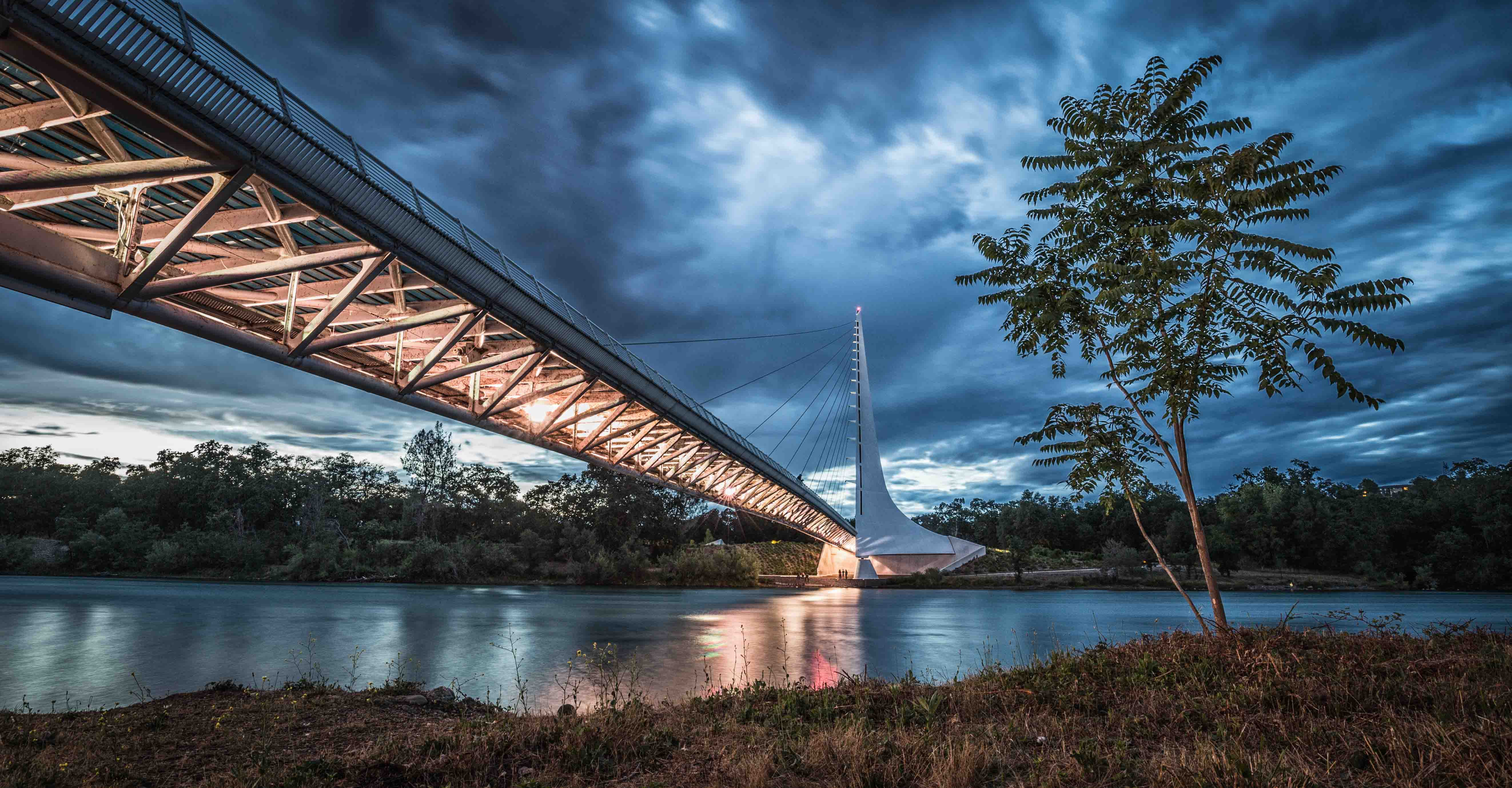 Sundial Bridge during the Blue Hour.