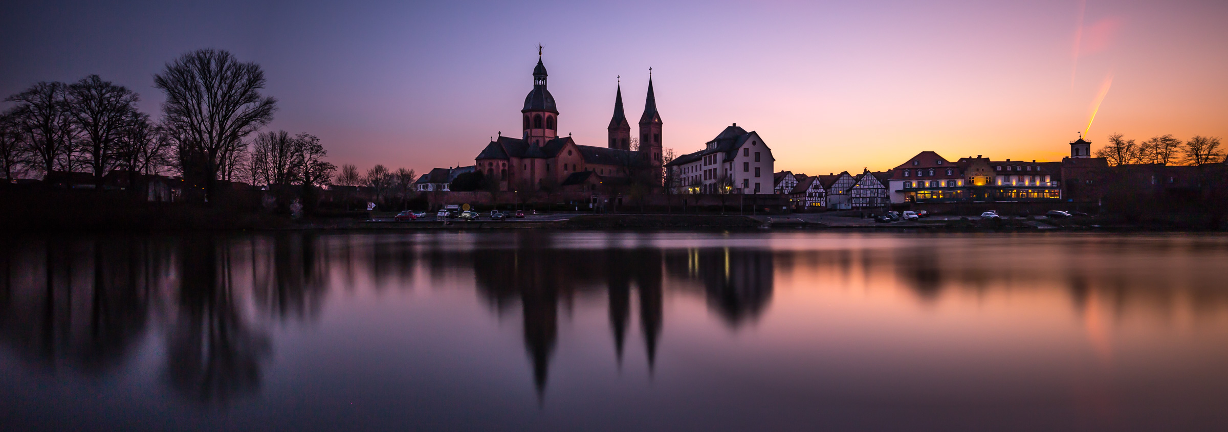 Sunset at Seligenstadt, Germany.