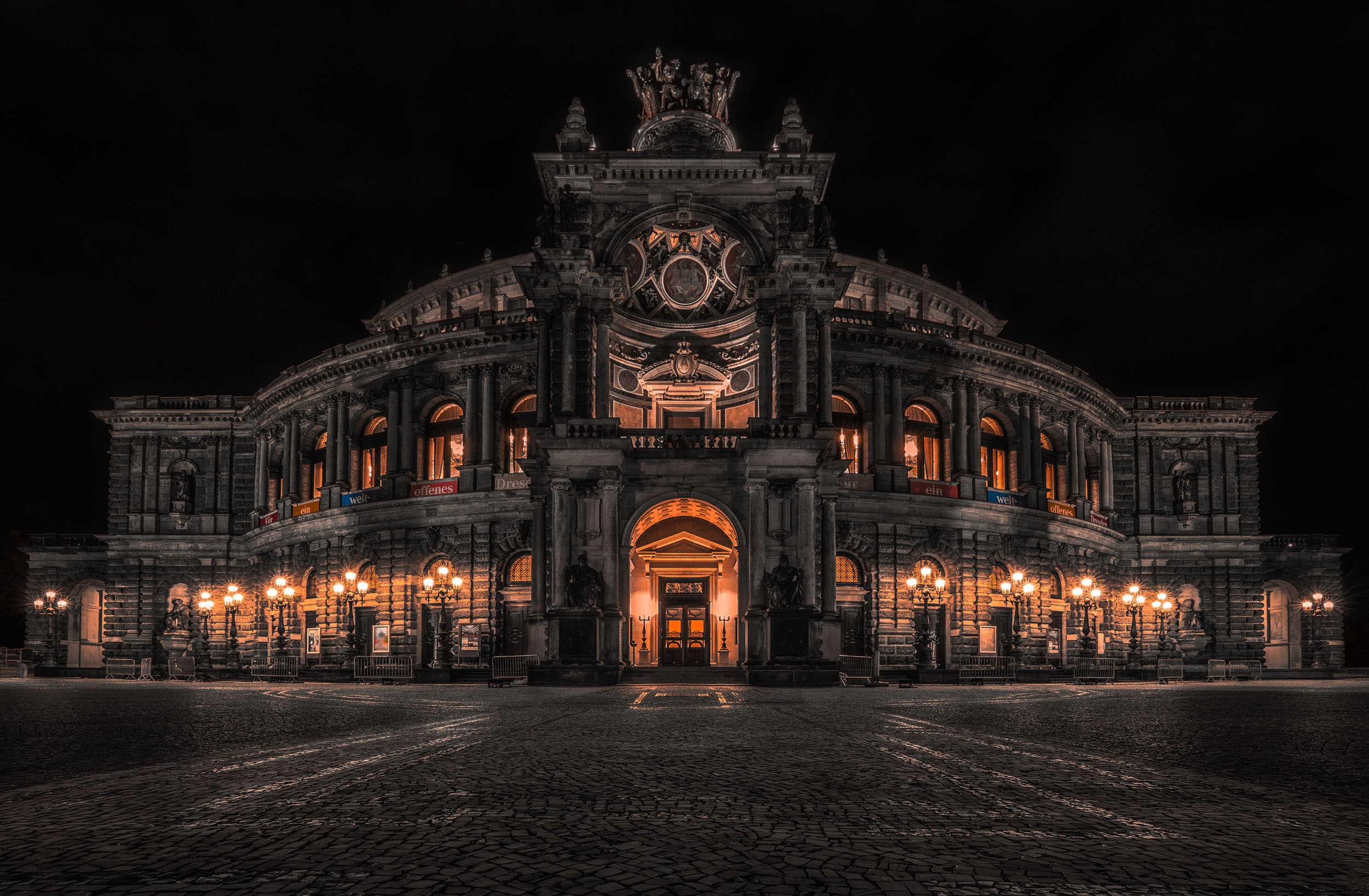 Semper Opera - Architecture in Dresden, Germany - City Photography
