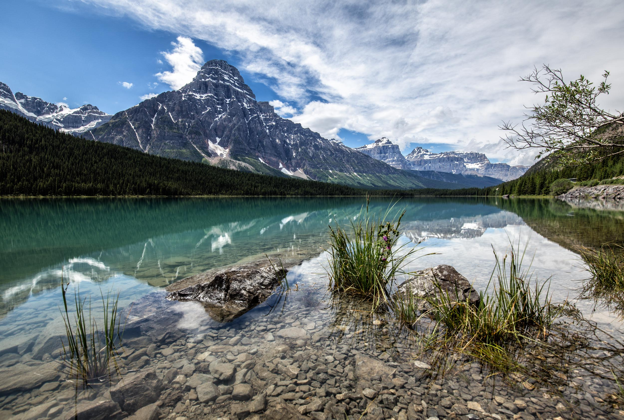 Waterfowl Lake - Alberta National Park, Kanada - Landschaftsbild
