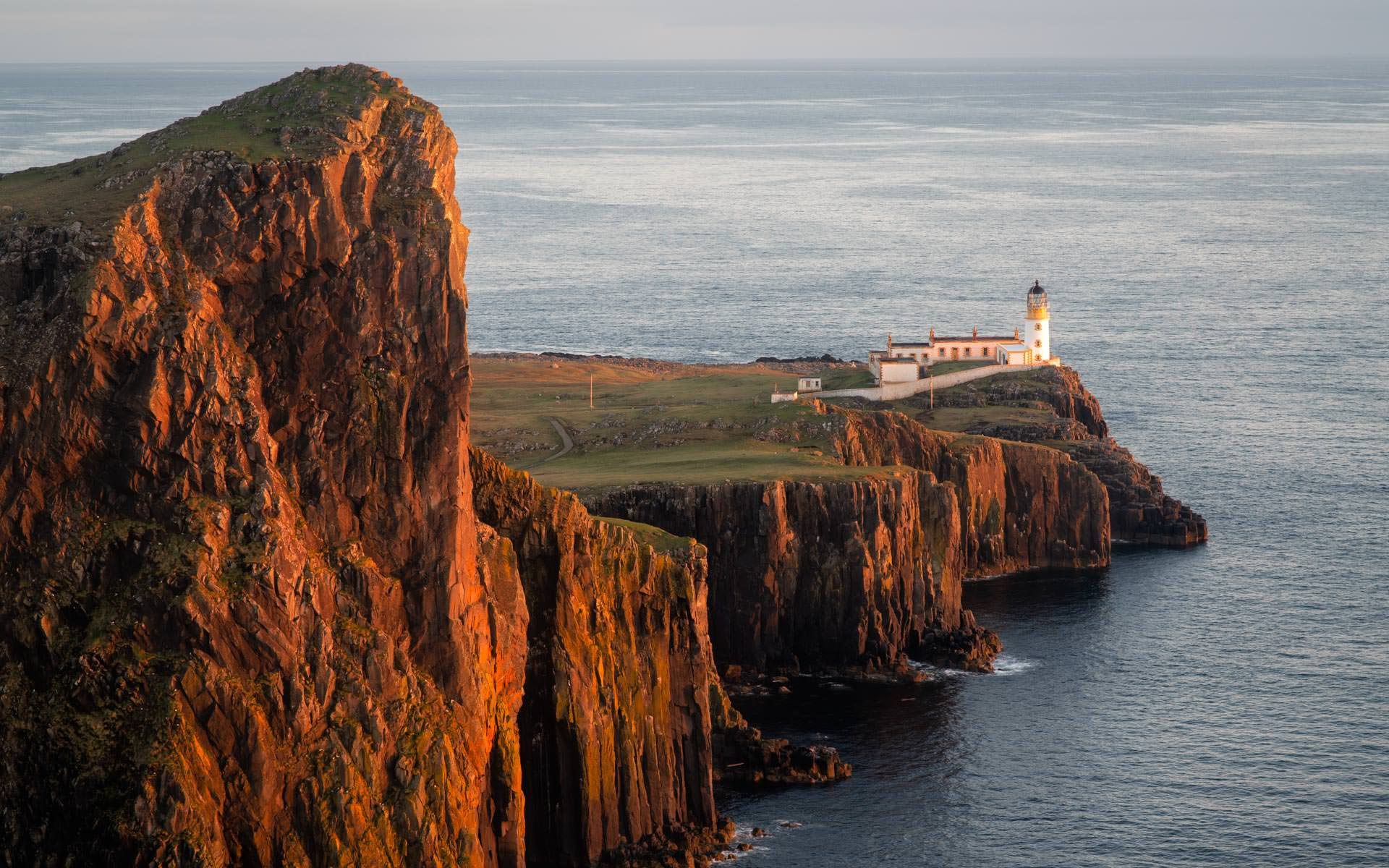Sunset at Neist Point Lighthouse - Scottish landscape Photography