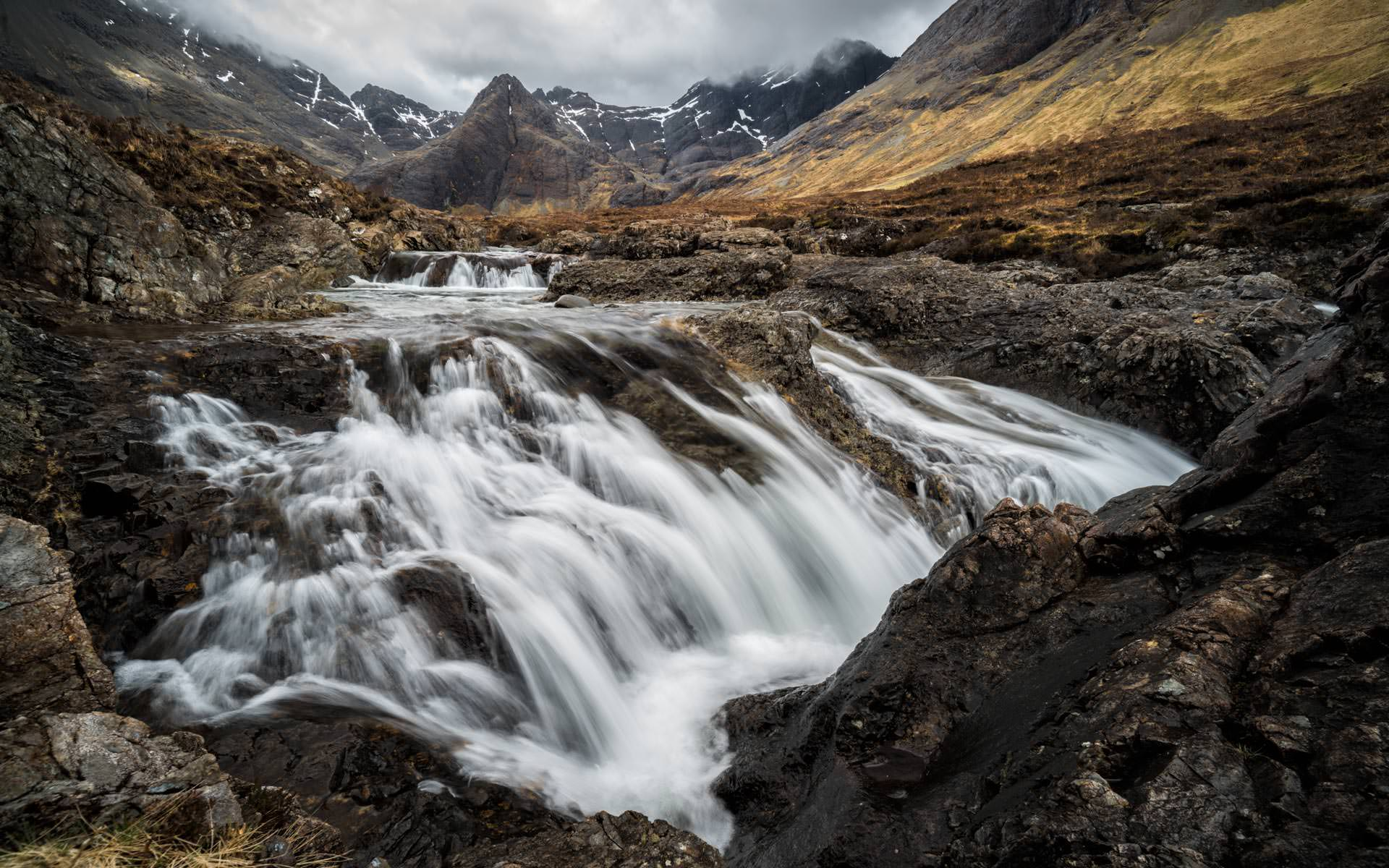 Moody Sky at the Fairy Pools - Landscape Photo