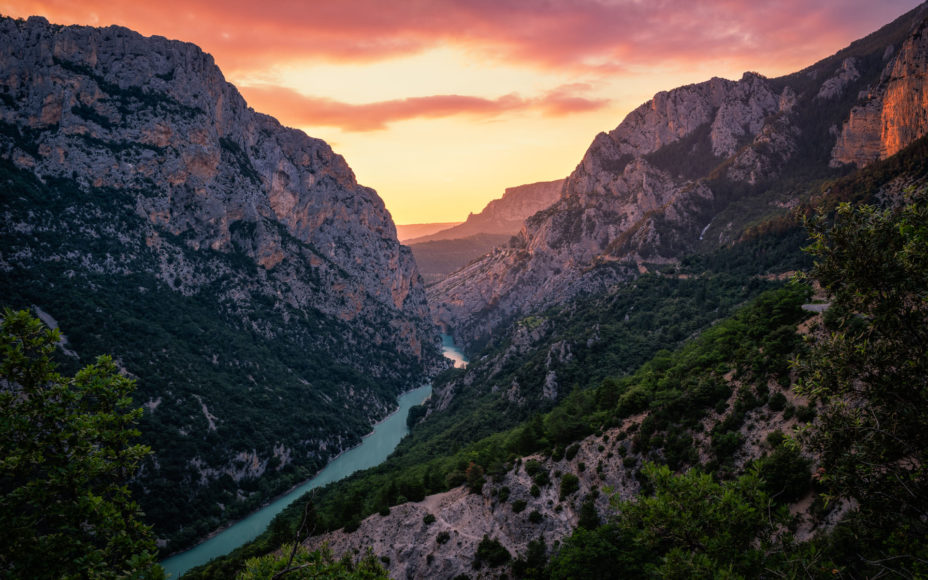 Sunset at Verdon Canyon - Landscape Photography in Provence, France