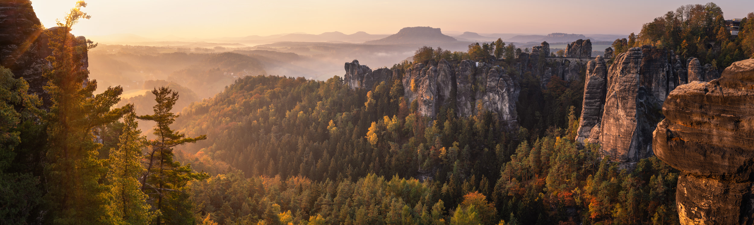 Sunrise at Saxony Switzerland - German Travel Photography
