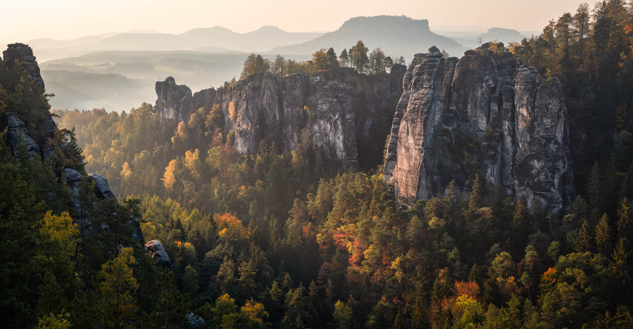 Panorama Bastei - Landscape Photography in Autumn