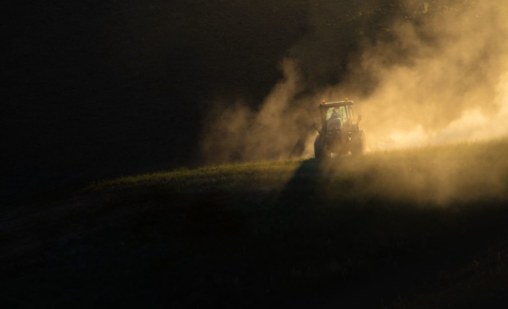 Agriculture Photography - Farm Machinery during Sunrise