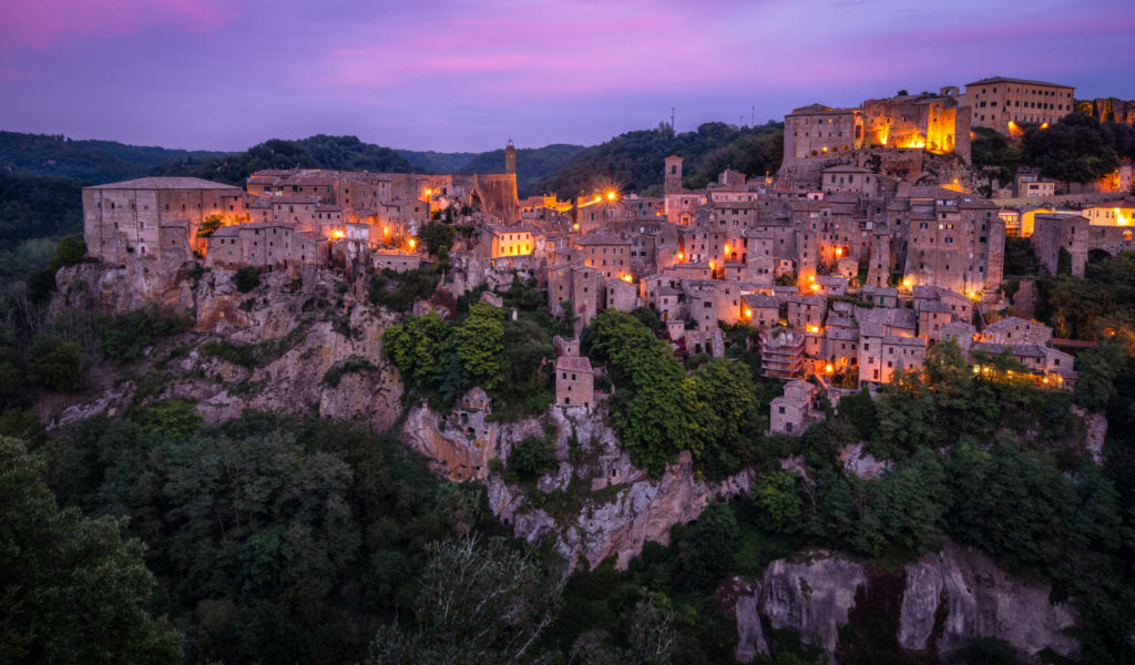 Blue hour at Sorano - South of Tuscany, Italy